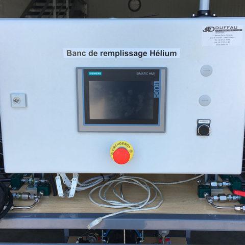Chariot de remplissage de bonbonnes à l'hélium