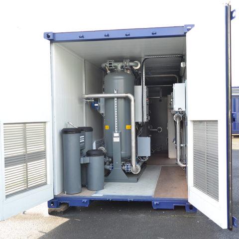 Centrale d'air comprimé en conteneur industrielle