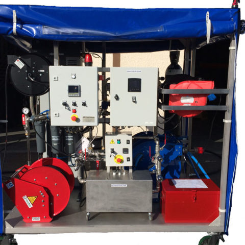 Skid centrale d'air respirable mobile