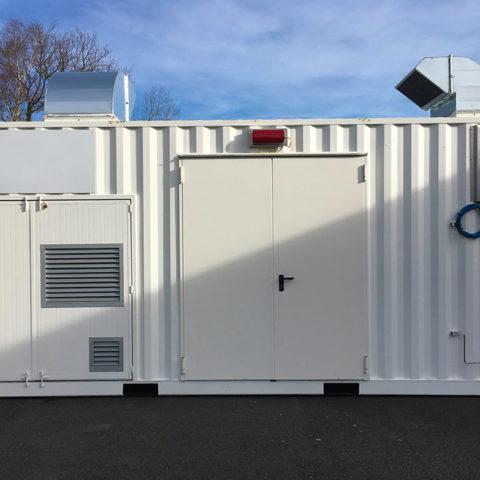 Conteneur - shelter technique génération d'azote industriel
